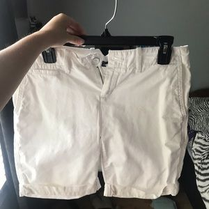 White Jean Shorts from GAP